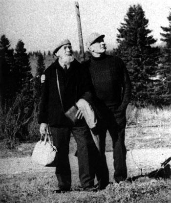 А.П. Хейдок и Н.А. Уранов. Рудный Алтай. 1970-е годы